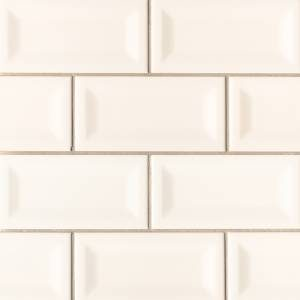 Domino Collection by MSI Stone Ceramic Tile 3x6 Almond Glossy Inverted Beveled