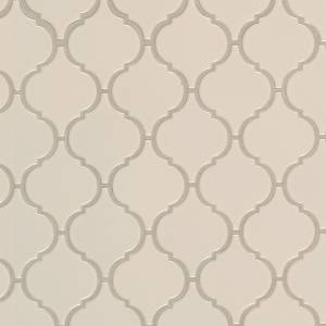Domino Collection by MSI Stone Mosaic Tile Almond Glossy Arabesque