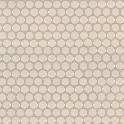Domino Collection by MSI Stone Mosaic Tile Almond Glossy Penny Round