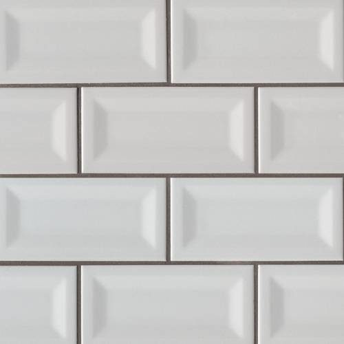 Domino Collection by MSI Stone Ceramic Tile 3x6 Gray Glossy Inverted Beveled