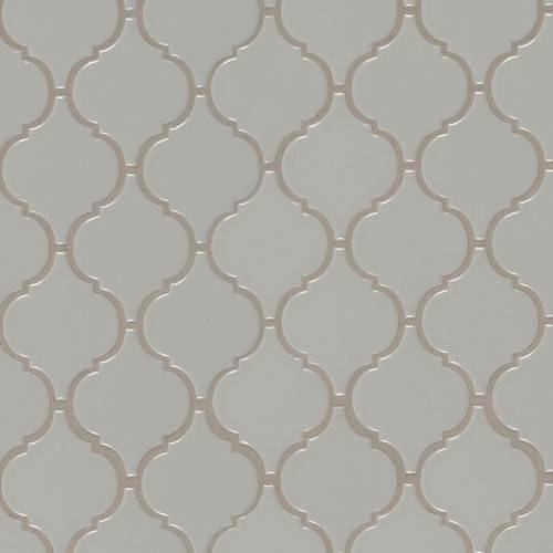 Domino Collection by MSI Stone Mosaic Tile Gray Glossy Arabesque