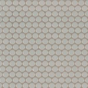 Domino Collection by MSI Stone Mosaic Tile Gray Glossy Penny Round