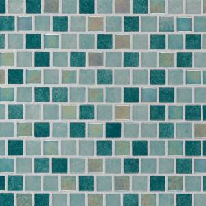 Glass Mosaic Tile by MSI Stone 1x1 Caribbean Jade