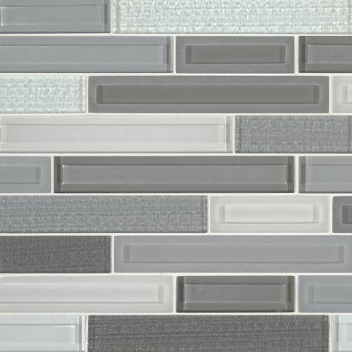Glass Mosaic Tile by MSI Stone Skyline Staks Interlocking