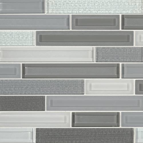 Glass Mosaic Tile by MSI Stone Skyline Staks Interlocking