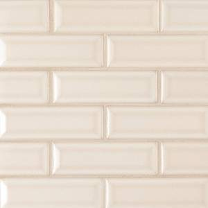 Highland Park Collection by MSI Stone Mosaic Tile 2x6 Antique White Beveled