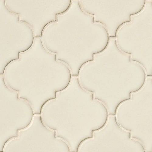 Highland Park Collection by MSI Stone Mosaic Tile Antique White Arabesque