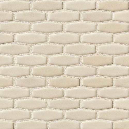 Highland Park Collection by MSI Stone Mosaic Tile Antique White Elongated Hexagon