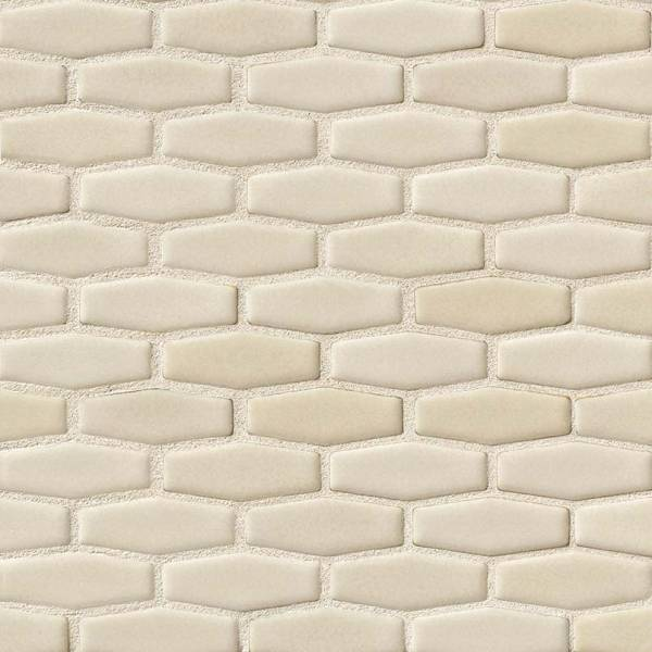 Antique White Elongated Hexagon