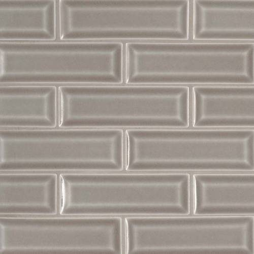 Highland Park Collection by MSI Stone Mosaic Tile 2x6 Dove Gray Beveled