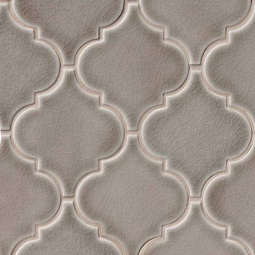 Highland Park Collection by MSI Stone Mosaic Tile Dove Gray Arabesque