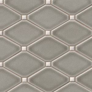 Highland Park Collection by MSI Stone Mosaic Tile Dove Gray Diamond