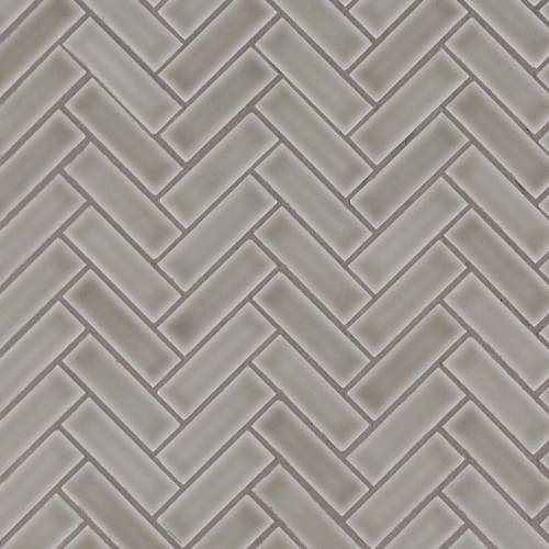 Highland Park Collection by MSI Stone Mosaic Tile 1x3 Dove Gray Herringbone