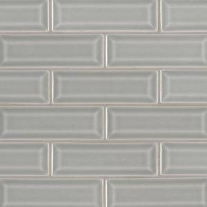 Highland Park Collection by MSI Stone Mosaic Tile 2x6 Morning Fog Beveled