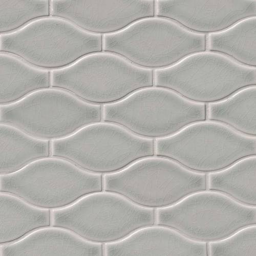 Highland Park Collection by MSI Stone Mosaic Tile Morning Fog Ogee