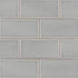 Highland Park Collection by MSI Stone Mosaic Tile 3x6 Morning Fog Subway