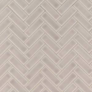 Highland Park Collection by MSI Stone Mosaic Tile 1x3 Portico Pearl Herringbone