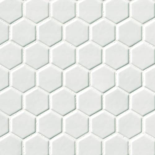 Highland Park Collection by MSI Stone Mosaic Tile 2x2 Whisper White Hexagon