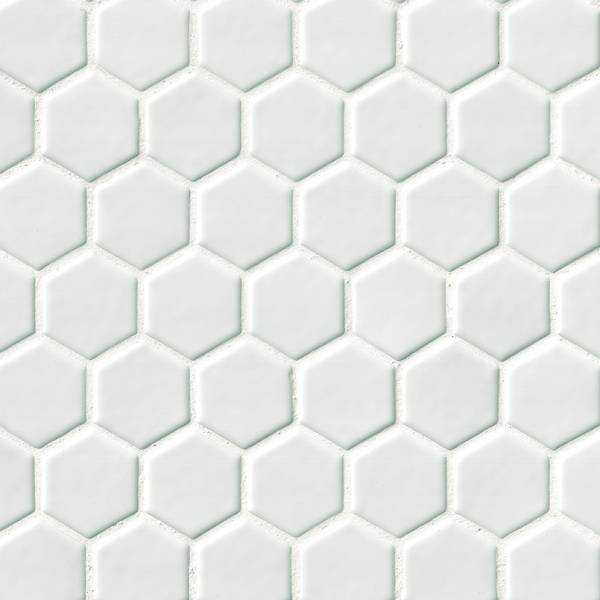 Whisper White Hexagon