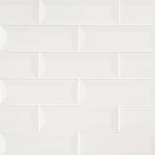 Highland Park Collection by MSI Stone Mosaic Tile 2x6 Whisper White Beveled