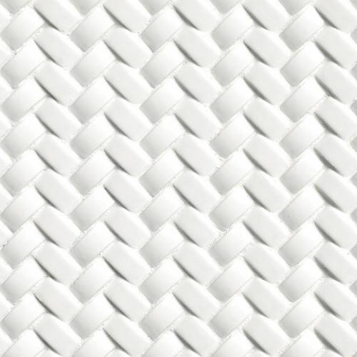 Highland Park Collection by MSI Stone Mosaic Tile Whisper White Arched Herringbone