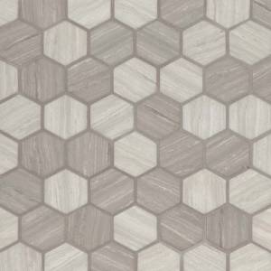 Glass Mosaic Tile by MSI Stone 2x2 Silva Oak Hexagon