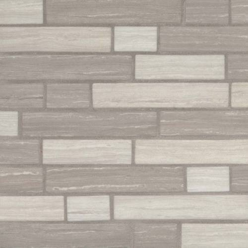 Glass Mosaic Tile by MSI Stone Silva Oak Interlocking