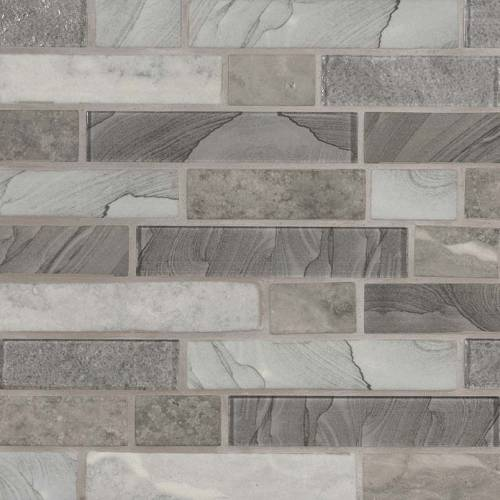 Glass Mosaic Tile by MSI Stone Tarvos Interlocking