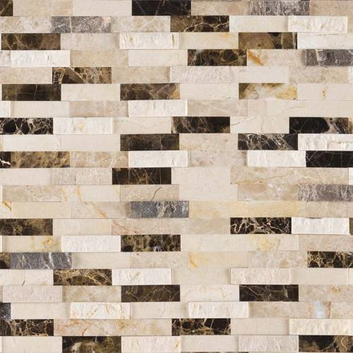 Stik Wall-Tile Collection by MSI Stone Mosaic Tile Emperador Blend