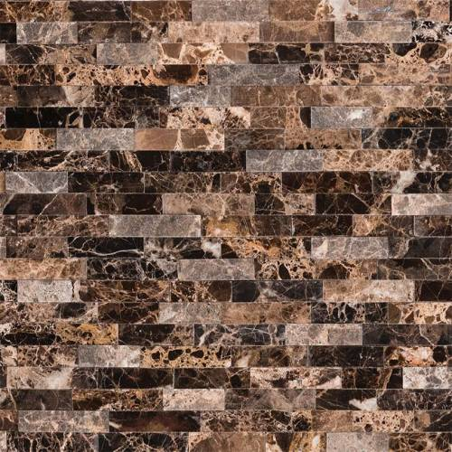 Peel and Stick Stacked Stone Collection by MSI Stone Mosaic Tile Emperador