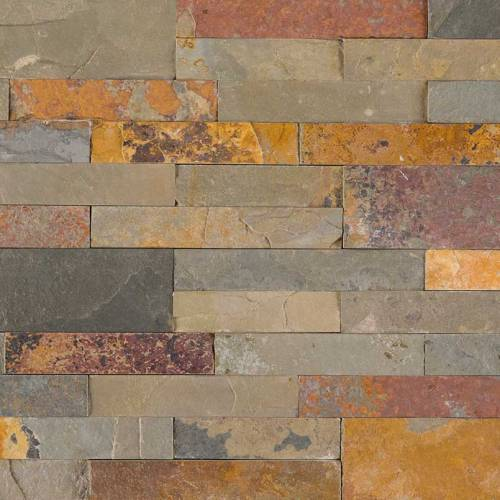 Peel and Stick Stacked Stone Collection by MSI Stone Mosaic Tile 6x22 Gold Rush