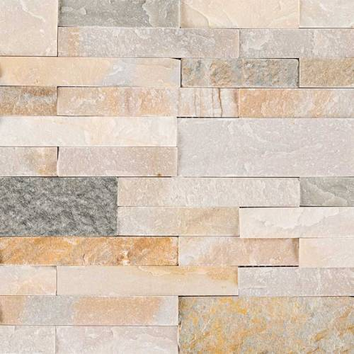 Peel and Stick Stacked Stone Collection by MSI Stone Mosaic Tile 6x22 Golden Honey