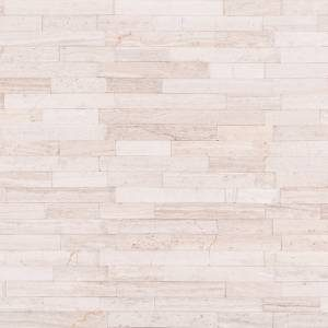 Peel and Stick Stacked Stone Collection by MSI Stone Mosaic Tile White Quarry Interlocking 3D