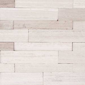 Peel and Stick Stacked Stone Collection by MSI Stone Mosaic Tile 6x22 Winter Oak