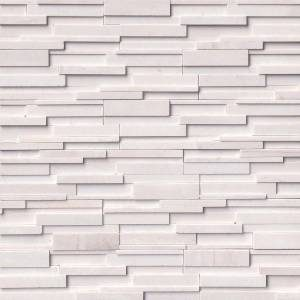 Arctic White 3D Honed by MSI Stone Ledger Panel 6x24 in.