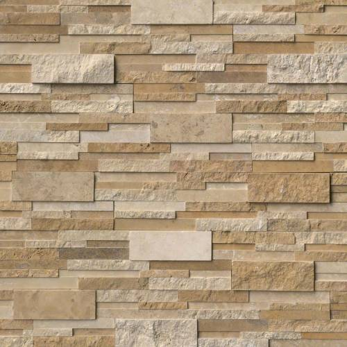 Casa Blend 3D Multi Finish by MSI Stone Ledger Panel 6x24 in.