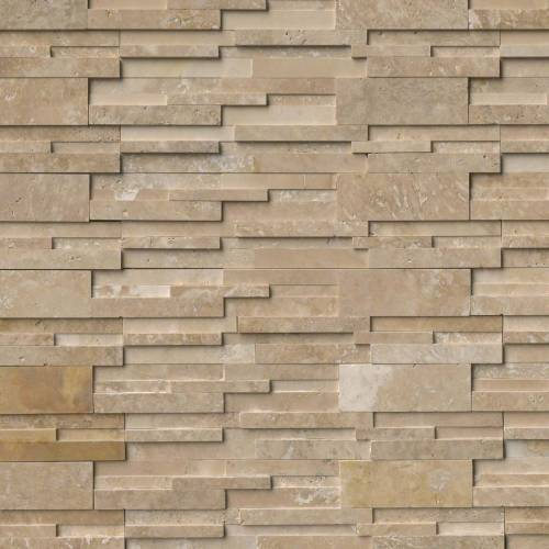 Durango Cream 3D Honed Ledger Panel