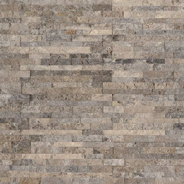 Silver Travertine Mini Sealed & Enhanced