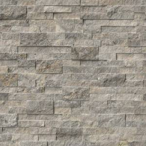 Silver Travertine by MSI Stone Ledger Panel 6x24 in.