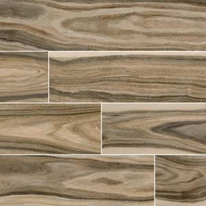 Dellano Collection by MSI Stone Porcelain Tile 8x48 Deep Bark