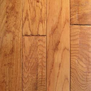 Knob Creek Collection by Mullican Solid 3/4 in. x 3 in. - Oak Gunstock