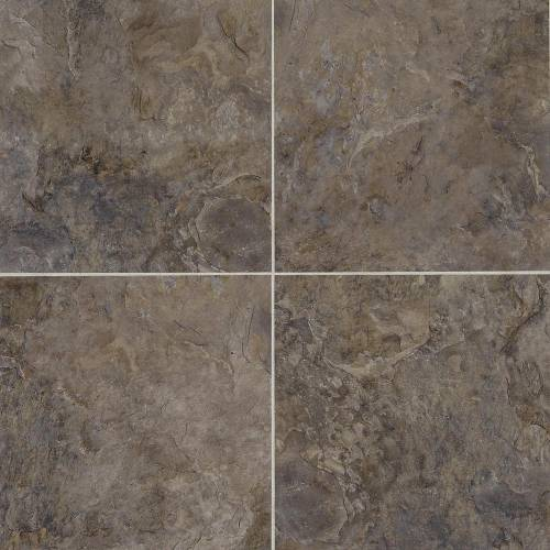 Adura Flex Rushmore Collection by Mannington Vinyl Tile 18x18 in. - Black Hill
