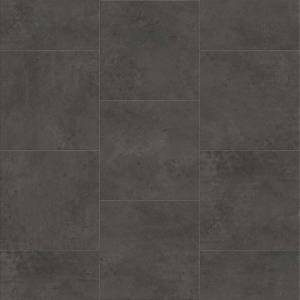 Deja New Smooth Concrete Collection by Metroflor Vinyl Tile 24x24 Anthracite
