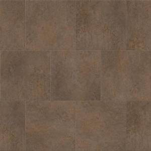 Deja New Smooth Concrete Collection by Metroflor Vinyl Tile 24x24 Umber