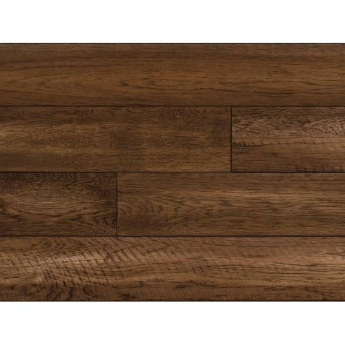 """Barnwood Hickory Collection by Paramount Flooring Solid Hardwood 5"""" Hickory - Shiplap Brown"""