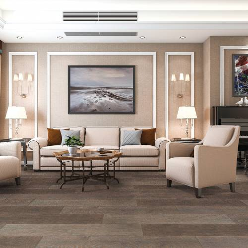 "Meadow Brook Collection by Paramount Flooring Engineered Hardwood 7-1/2"" Oak - Stone Roof"