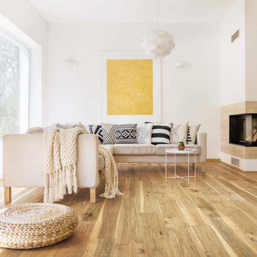 "Streamside Collection by Paramount Flooring Engineered Hardwood 7-1/2"" Hickory - Natural Rustic"