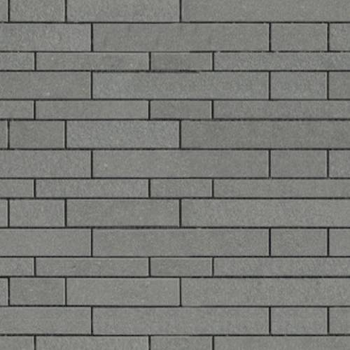 Avenue Collection by Porcelanosa Mosaic Tile 12x12 Strip Grey Mix