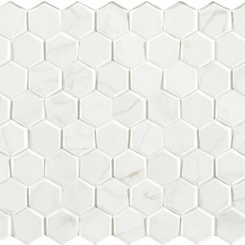 Carrara Collection by Porcelanosa Mosaic Tile 12x24 Forest Blanco