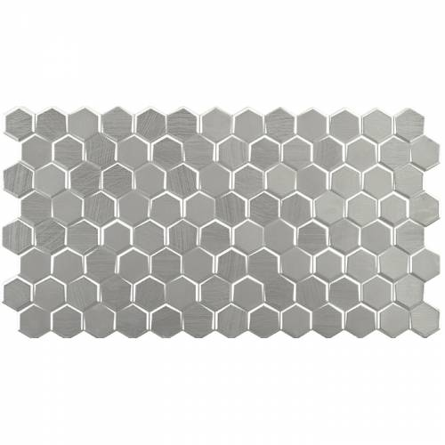 Forest Collection by Porcelanosa Mosaic Tile 12x24 Silver
